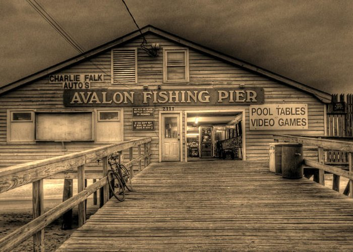 Pier Greeting Card featuring the photograph Avalon Fishing Pier by E R Smith