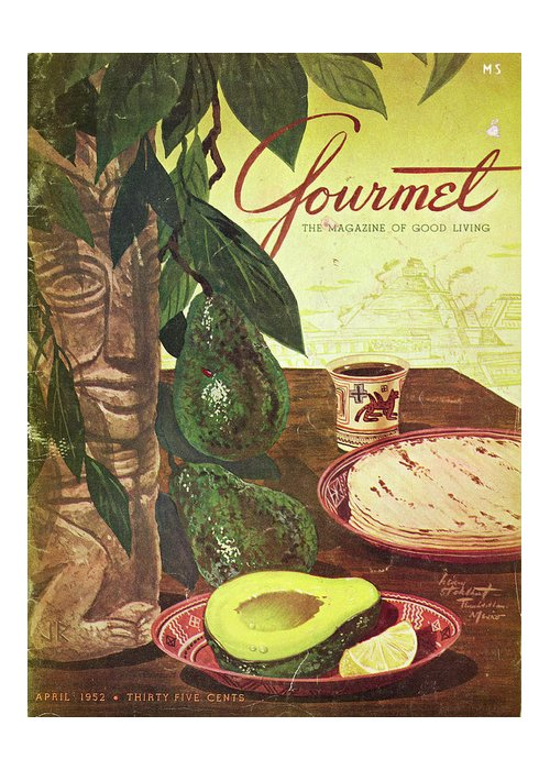 Food Greeting Card featuring the photograph Avocado And Tortillas by Henry Stahlhut