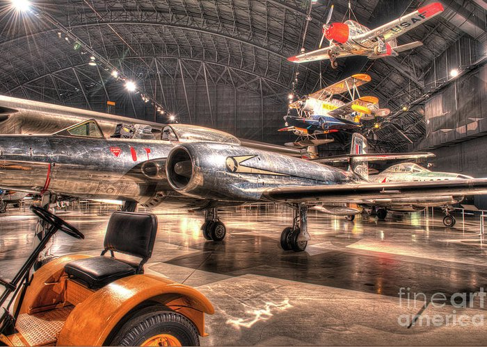 Dayton Greeting Card featuring the photograph Avro Cf-100 Mk Iv Canuck by Greg Hager
