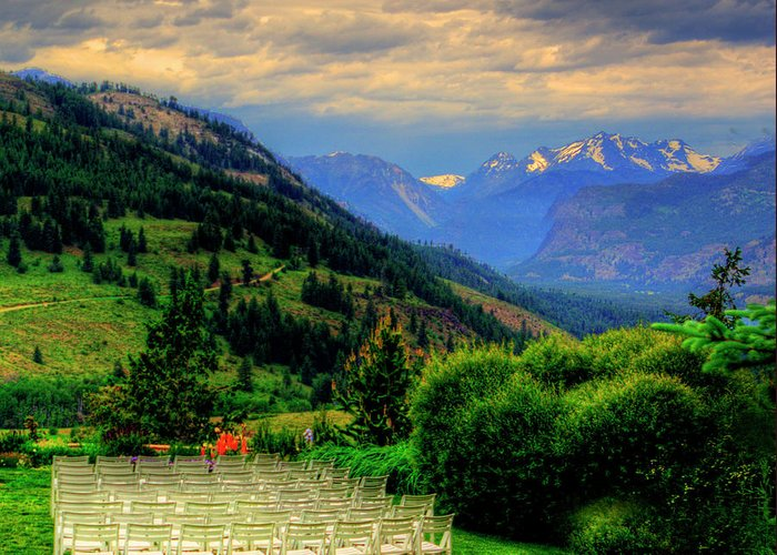 Sun Mountain Greeting Card featuring the photograph Awaiting The Bride by Dale Stillman