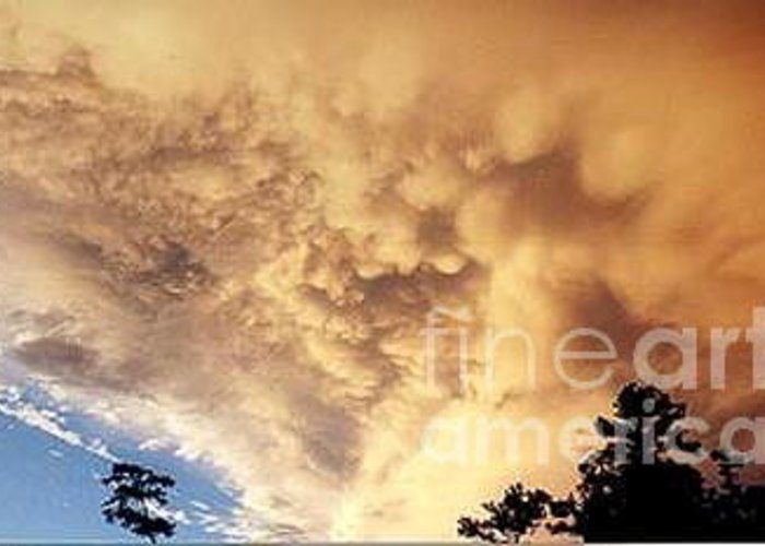 Clouds Greeting Card featuring the photograph Awesome Cloud by Tina Antoniades