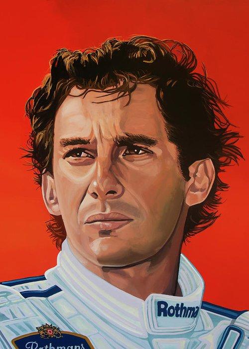 Ayrton Senna Greeting Cards