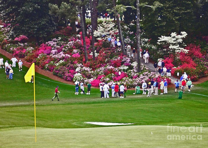 Masters Golf Tournament Greeting Card featuring the photograph Azaleas In Bloom by David Bearden