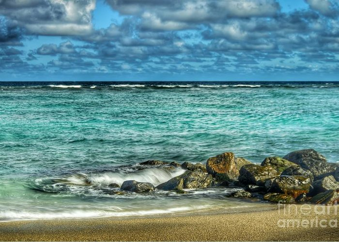 Landscape Greeting Card featuring the photograph Azure Blue Paradise by Glenn Forman