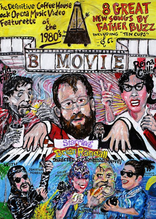 Bmovie Greeting Card featuring the painting B Movie by Jonathan Morrill