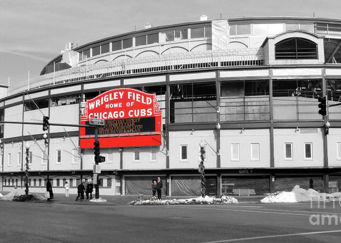 Wrigley Field Greeting Cards