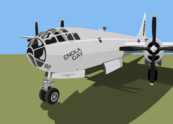 B29 Bomber Greeting Cards