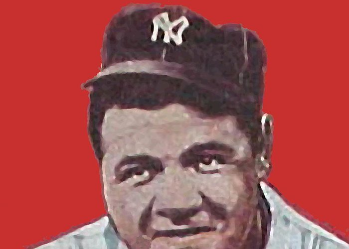 Babe Ruth Greeting Card featuring the painting Babe Ruth by Paul Van Scott