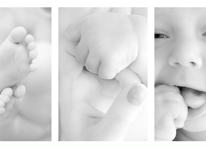 Adorable Greeting Card featuring the photograph Baby Details by Jaroslaw Grudzinski
