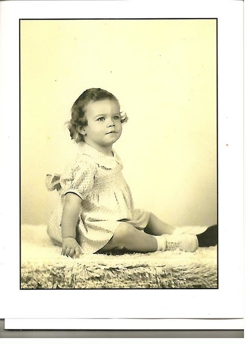 New Headshot Greeting Card featuring the photograph Baby Girl by Anne-Elizabeth Whiteway