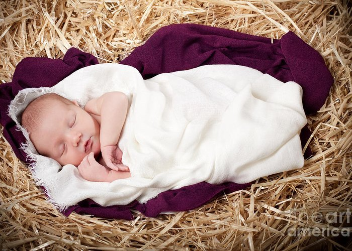 Nativity Greeting Card featuring the photograph Baby Jesus Nativity by Cindy Singleton