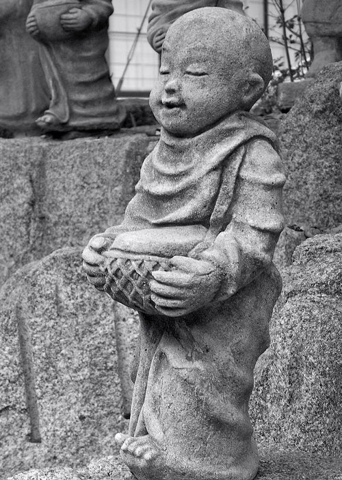 Monk Greeting Card featuring the photograph Baby Monk by Britta Loucas