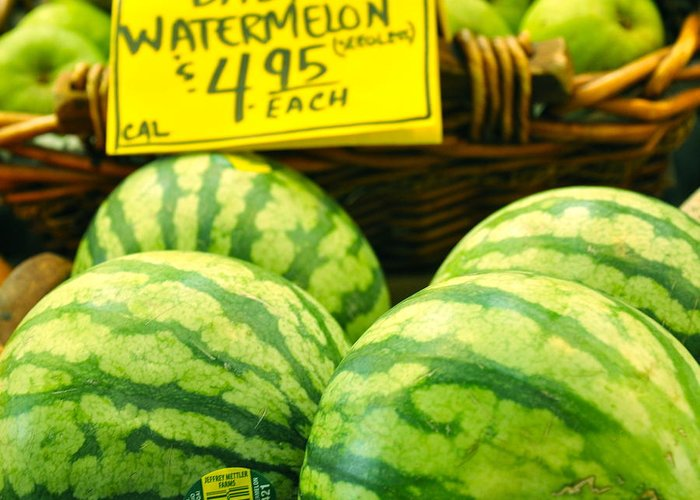 Baby Watermelons Greeting Card featuring the photograph Baby Watermelons by Caroline Reyes-Loughrey