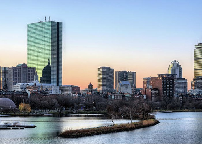 Boston Greeting Card featuring the photograph Back Bay Sunrise by JC Findley