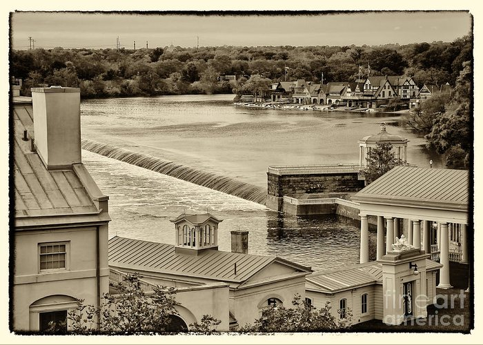 Philadelphia Greeting Card featuring the photograph Back Of Water Works by Jack Paolini