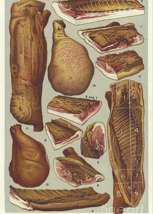 Red Meat Greeting Cards