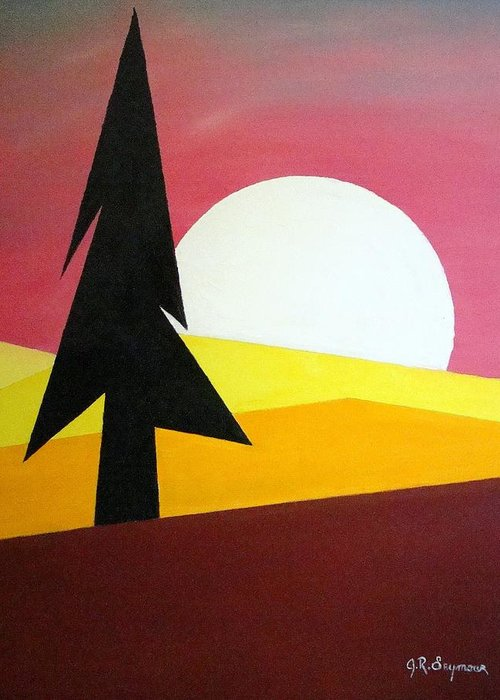 Phases Of The Moon Greeting Card featuring the painting Bad Moon Rising by J R Seymour