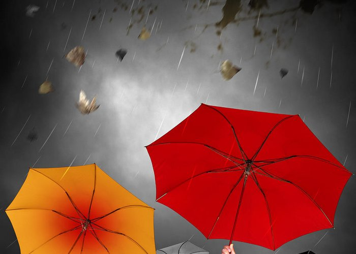 Abstract Greeting Card featuring the photograph Bad Weather by Carlos Caetano