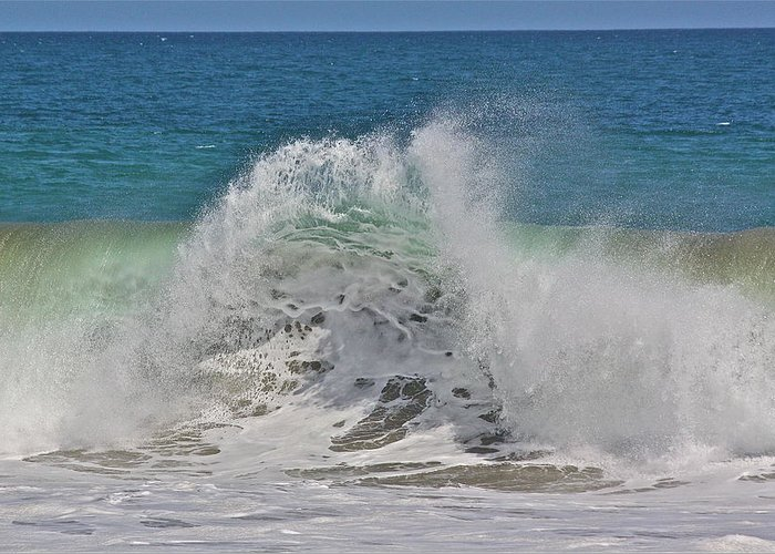 Sea Greeting Card featuring the photograph Baja Wave by Diana Hatcher