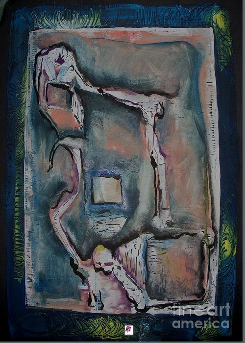 Figure Greeting Card featuring the painting Balance Of Power by Carol Rashawnna Williams