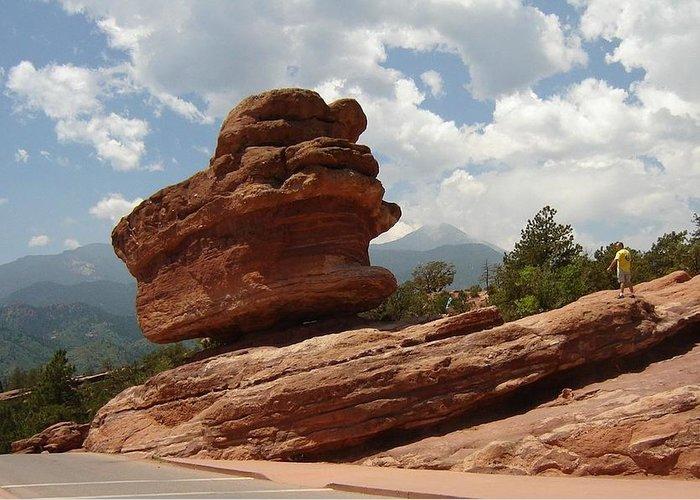 Colorado Greeting Card featuring the photograph Balance Rock by Anita Burgermeister