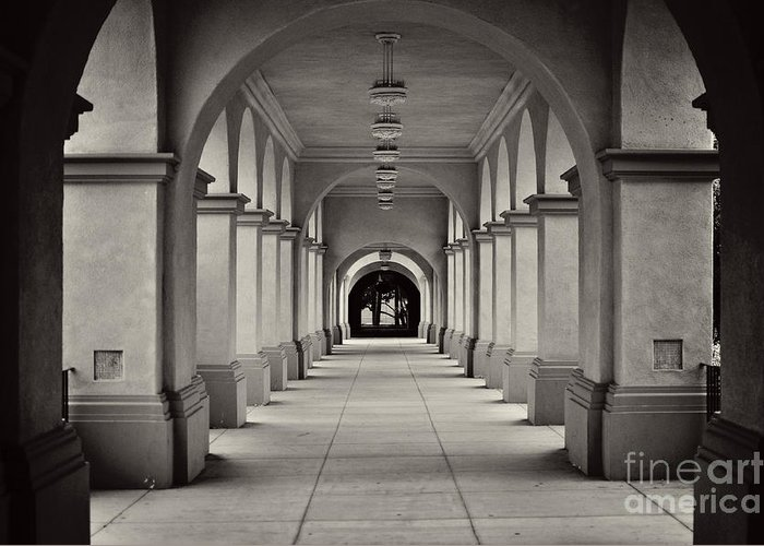 Photograph Greeting Card featuring the photograph Balboa Park Archways by Tamara Adams