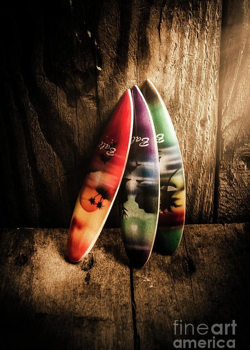 Surfboard Greeting Card featuring the photograph Bali Beach Surf Holiday Scene by Jorgo Photography - Wall Art Gallery