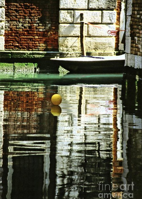 Venice Greeting Card featuring the photograph Ball On A Canal In Venice by Michael Henderson