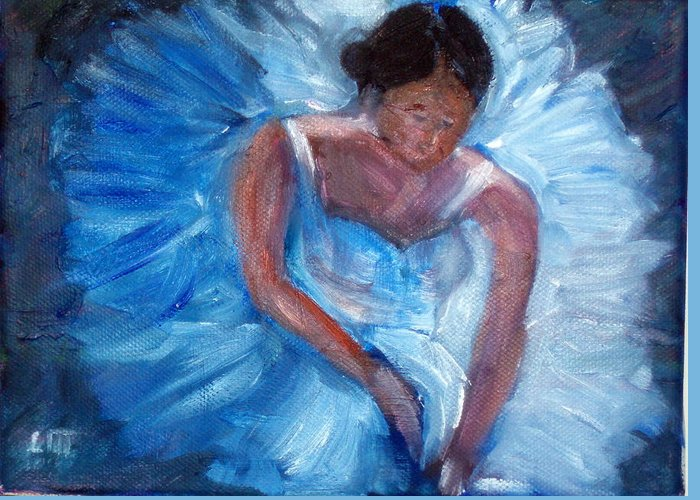 Ballet Greeting Card featuring the painting Ballerina 1 by Lia Marsman