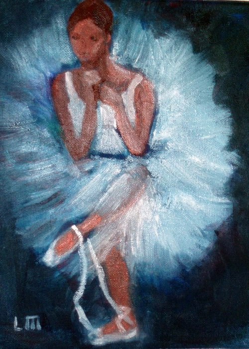 Classical Dance Greeting Card featuring the painting Ballerina 2 by Lia Marsman