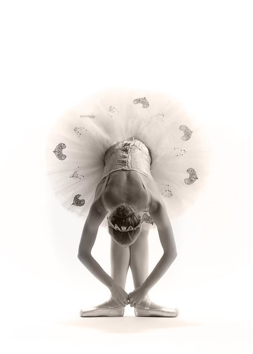 Ballerina Greeting Card featuring the photograph Ballerina Bent by Steve Williams