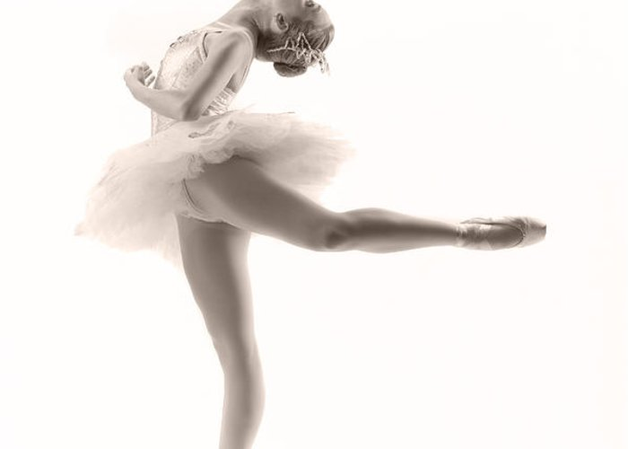 Ballerina Greeting Card featuring the photograph Ballerina by Steve Williams