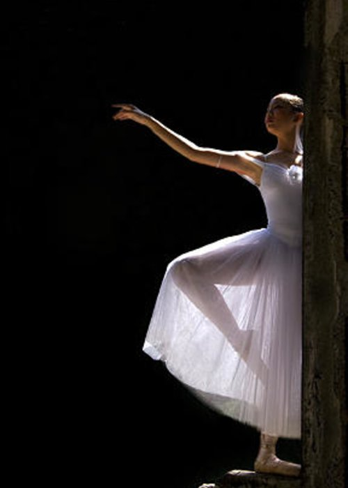 Ballet Dancer Greeting Card featuring the photograph Ballet Dancer6 by George Cabig