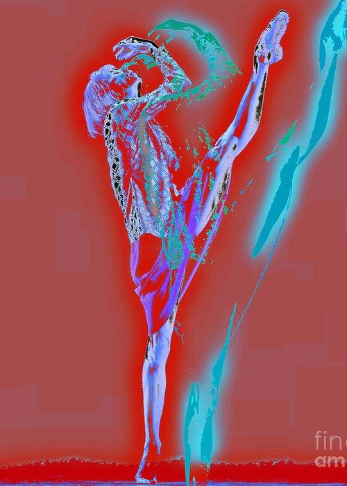 Ballet Greeting Card featuring the digital art Ballet by Daniela Constantinescu