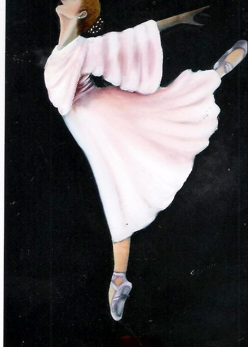 Dance Greeting Card featuring the painting Ballet Practice by Felix Turner