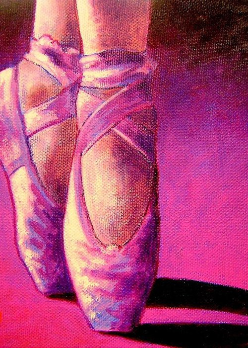 Ballet Greeting Card featuring the painting Ballet Shoes II by John Nolan