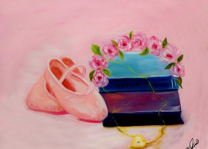 Ballet Greeting Card featuring the painting Ballet Still Life by Joni M McPherson