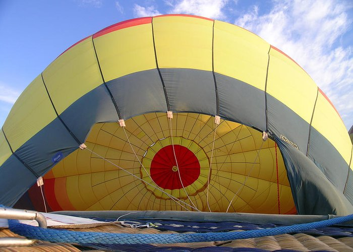 Balloon Greeting Card featuring the photograph Balloon Inflation by Jim DeLillo