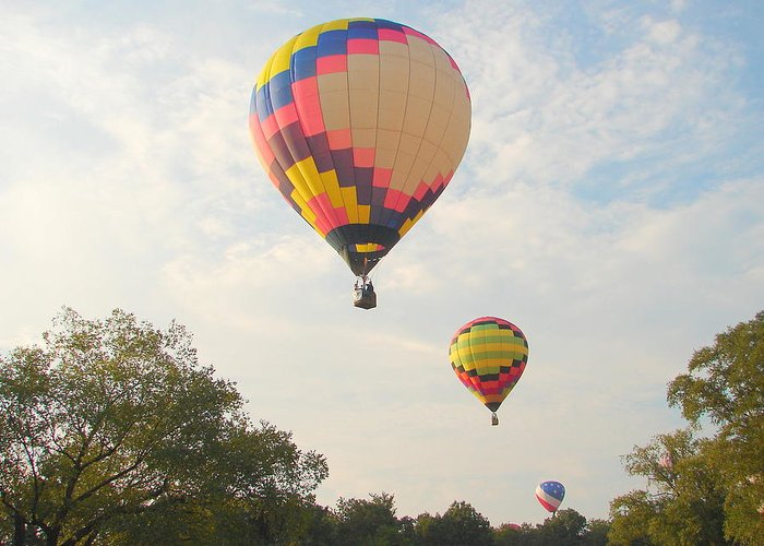 Greeting Card featuring the photograph Balloon Race by Luciana Seymour