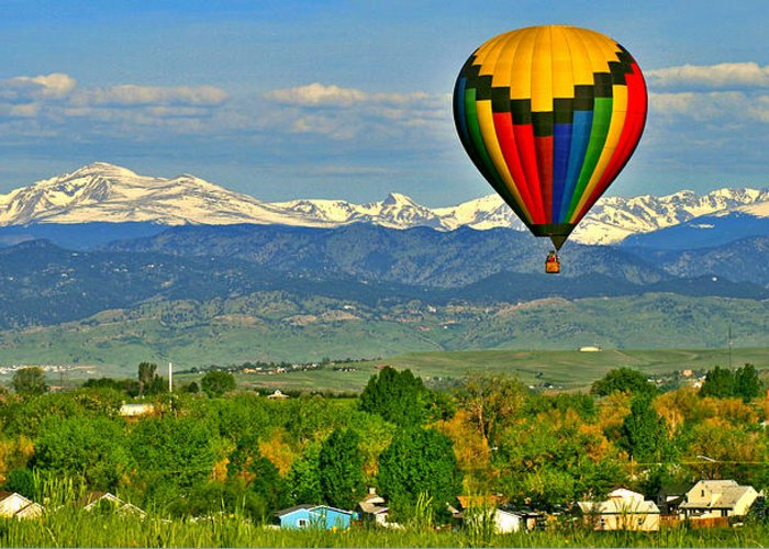 Colorado Greeting Card featuring the photograph Ballooning Over The Rockies by Scott Mahon