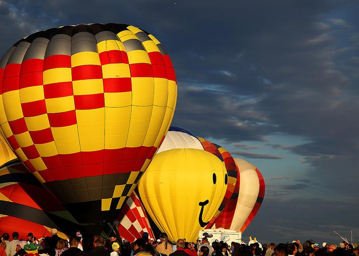 Albuquerque Greeting Card featuring the photograph Balloons by Anthony Sekellick