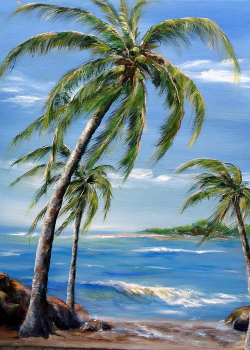 Hawaii Greeting Card featuring the painting Balmy Breeze by Thomas Restifo