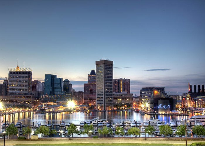 Baltimore Greeting Card featuring the photograph Baltimore Harbor by Shawn Everhart