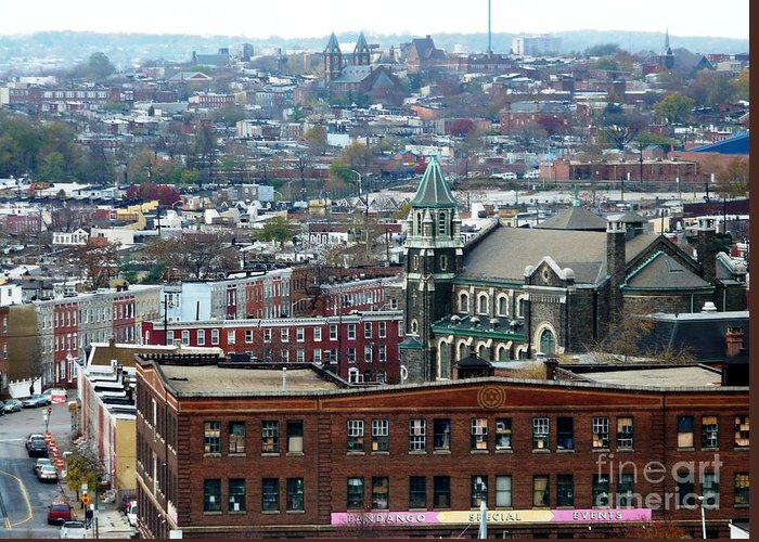 Cities Greeting Card featuring the photograph Baltimore Rooftops by Carol Groenen