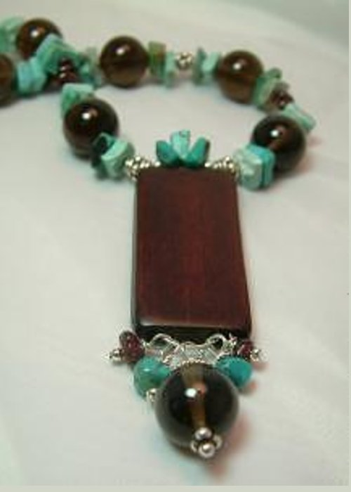 Greeting Card featuring the jewelry Bamboo And Turquoise by Donna Phitides