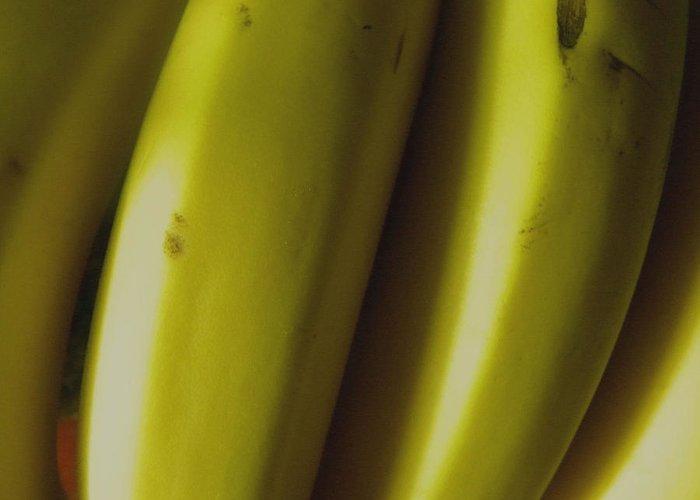 Bananas Greeting Card featuring the photograph Bananas by Fanny Diaz