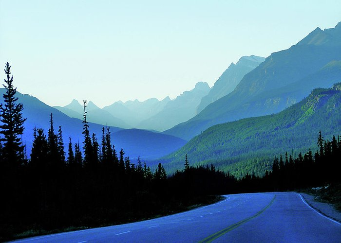 Blue Greeting Card featuring the photograph Banff Jasper Blue by Blair Wainman