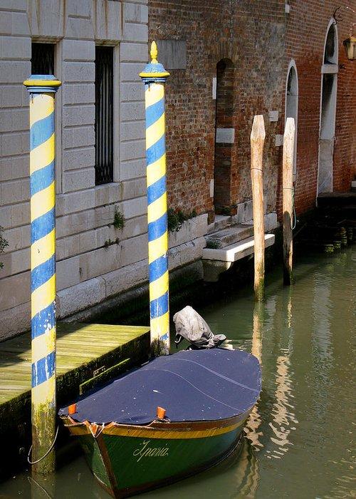 Boat Greeting Card featuring the digital art Barca Blue by Italian Art