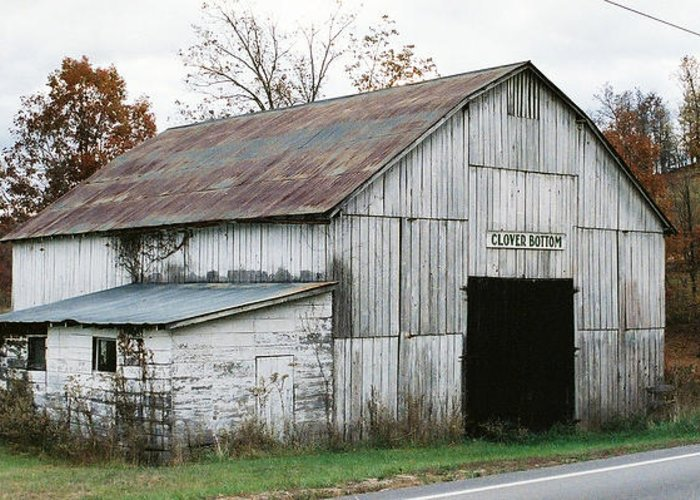 Barn Greeting Card featuring the photograph Barn At Clover Bottom by George Ferrell