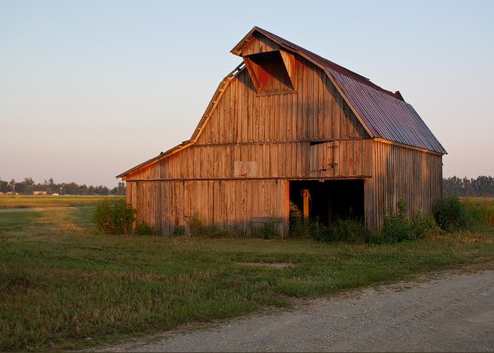 Barn Greeting Card featuring the photograph Barn At Early Dawn by Douglas Barnett